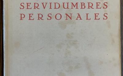 Las servidumbres personales. Recensión de la obra de Juan Ossorio Morales